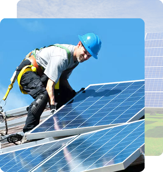 engineer with solar